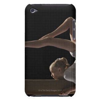 Gymnast on balance beam iPod touch case