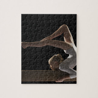 Gymnast on balance beam jigsaw puzzle