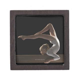 Gymnast on balance beam keepsake box