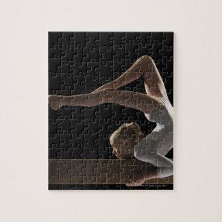 Gymnast on balance beam jigsaw puzzle