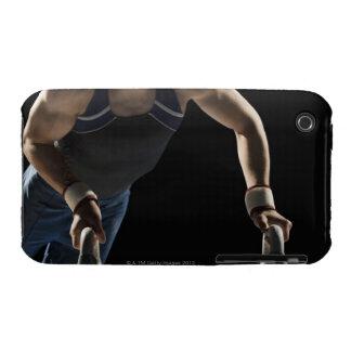 Gymnast on pommel horse iPhone 3 cases