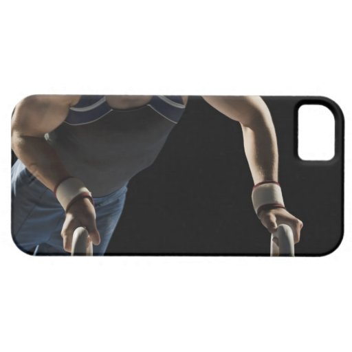 Gymnast on pommel horse iPhone 5 covers