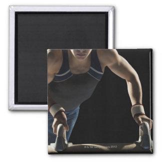 Gymnast on pommel horse magnet