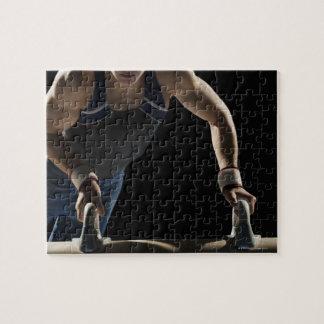 Gymnast on pommel horse puzzle