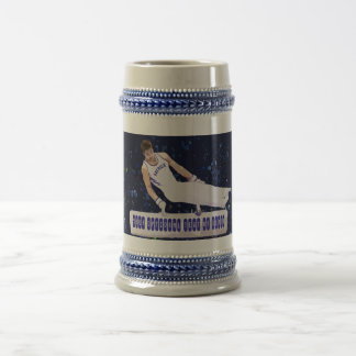 Gymnast On Pommel Horse With Your Name Drawing Beer Stein