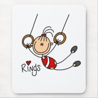 Gymnast on Rings Mouse Pad
