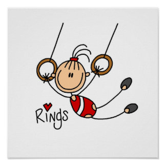 Gymnast on Rings Poster