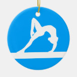 Gymnast Ornament w/Name Blue