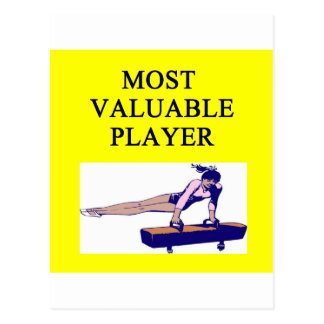 GYMNaST ost valuable player Postcard