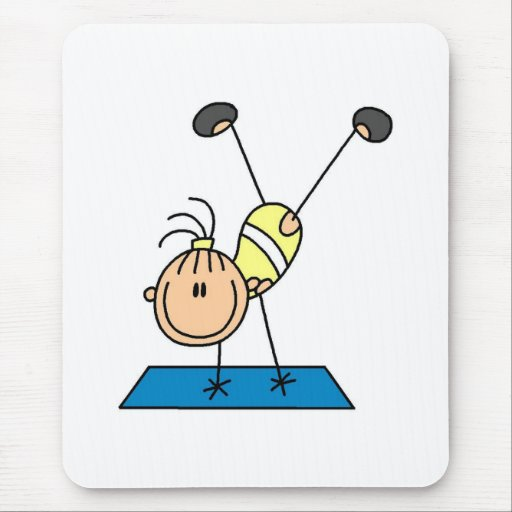 Gymnast Practicing  Mouse Mats