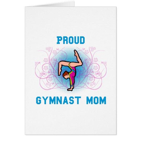 Gymnast Proud Mom Card