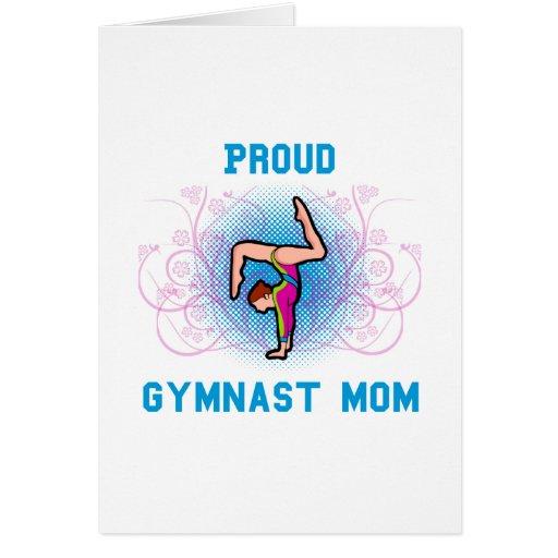 Gymnast Proud Mom Greeting Card