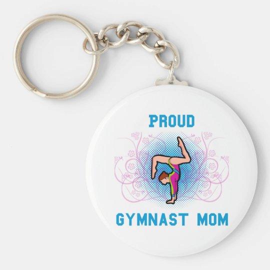 Gymnast Proud Mom Keychain