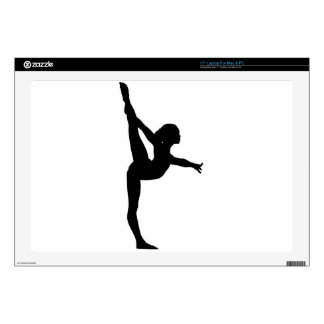 "Gymnast Silhouette Decals For 17"" Laptops"