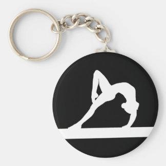 Gymnast Silhouette Keychain Black