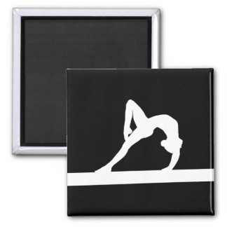 Gymnast Silhouette Magnet Black