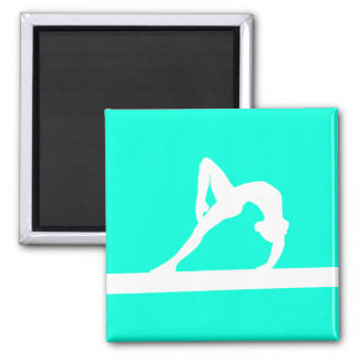 Gymnast Silhouette Magnet Turquoise