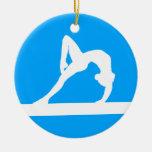 Gymnast Silhouette Ornament Blue