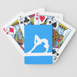 Gymnast Silhouette Playing Cards Blue