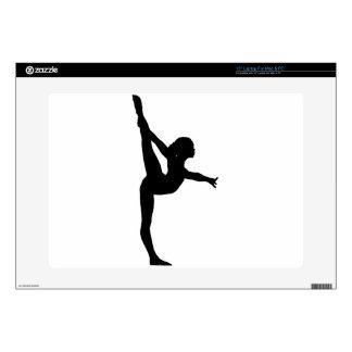 Gymnast Silhouette Laptop Skins