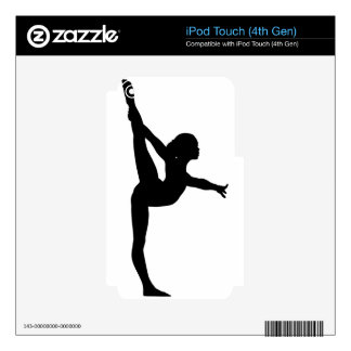 Gymnast Silhouette iPod Touch 4G Skin
