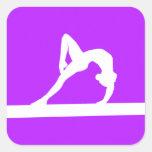 Gymnast Silhouette Sticker Purple