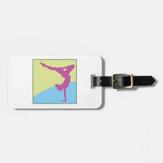 Gymnast Square Tag For Luggage