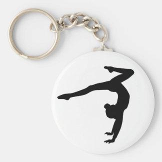 Gymnast Stag Handstand Gifts Basic Round Button Keychain