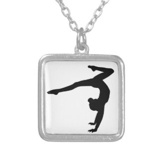 Gymnast Stag Handstand Gifts Custom Necklace