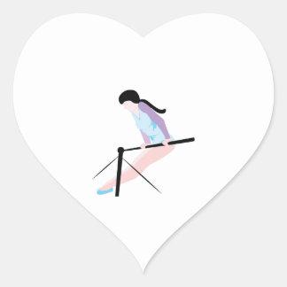 Gymnast Heart Sticker