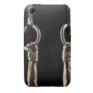 Gymnast swinging from rings 2 iPhone 3 Case-Mate case