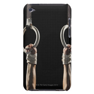 Gymnast swinging from rings 2 iPod touch case
