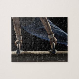 Gymnast swinging on pommel horse jigsaw puzzle