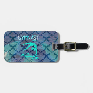 Gymnast Tribal Pattern Blue Bag Tag