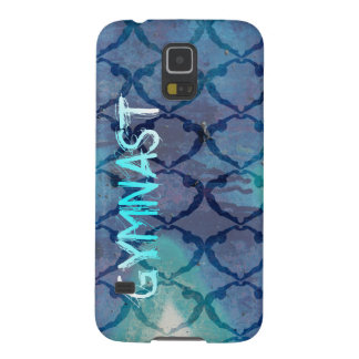 Gymnast Tribal Pattern Blue Case For Galaxy S5