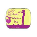 Gymnast Valentine's Day candy tin