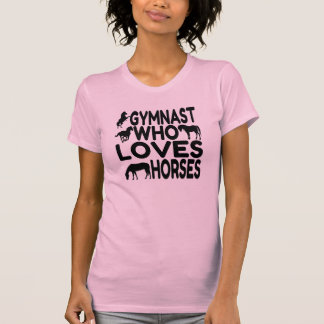 Gymnast Who Loves Horses T-Shirt