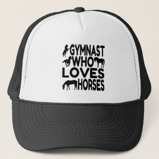 Gymnast Who Loves Horses Trucker Hat
