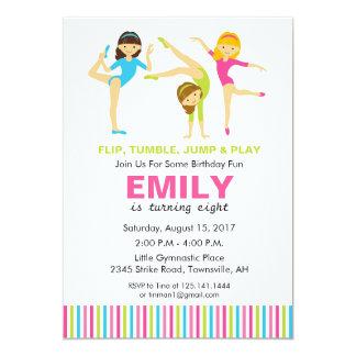 gymnastic birthday party invitation - Gymnastics Birthday Party Invitations