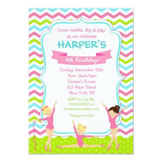 gymnastic birthday party invitations - Gymnastics Birthday Party Invitations