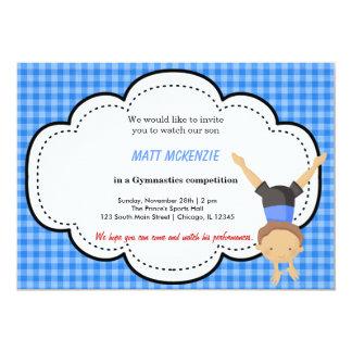 Gymnastic Boy Competition (Blue) Custom Invites