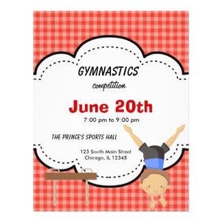 Gymnastic Boy Competition Red Custom Flyer