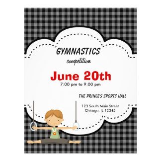 Gymnastic Competition Black Personalized Flyer