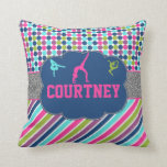 "Gymnastic Dance Name Personalized Throw Pillow<br><div class=""desc"">Gymnastic Dance Monogram Personalized</div>"