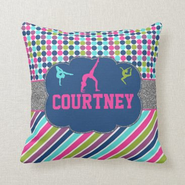 TiffsSweetDesigns Gymnastic Dance Name Personalized Throw Pillow