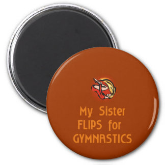Gymnastic Family FLIP female 2 Inch Round Magnet