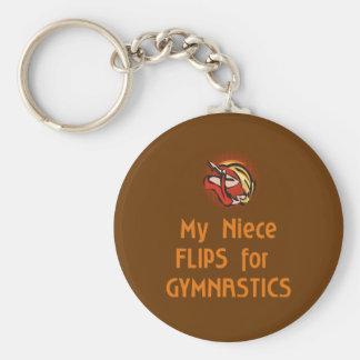 Gymnastic Family FLIP female Basic Round Button Keychain