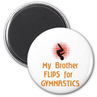Gymnastic FLIP Family Male 2 Inch Round Magnet