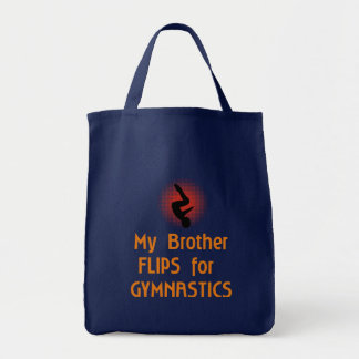 Gymnastic FLIP Family Male Tote Bags