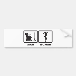 Gymnastic Floor Exercise Bumper Sticker